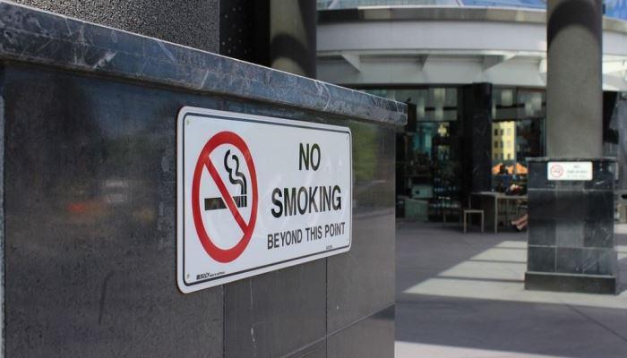 Курение в общественных местах на острове