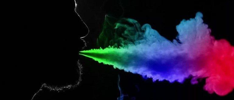 Как сделать цветной дым в вейпе